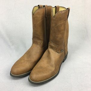 Justin Basics Farm & Ranch Brown Leather Boots 12